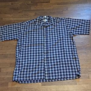 Short Sleeve Button Down Shirt with Collar